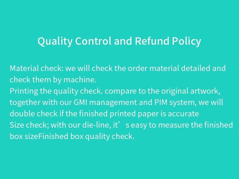 Quality Control and Refund Policy