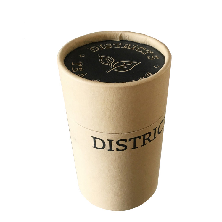 Brown Paper tube box with printing