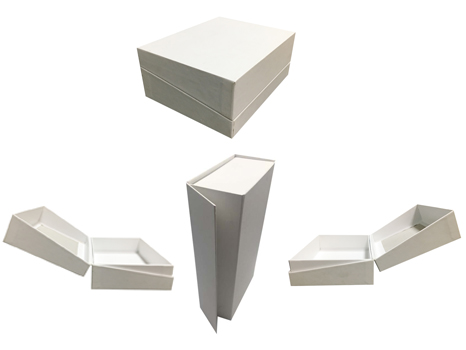 Heavy Look white hinged paper box