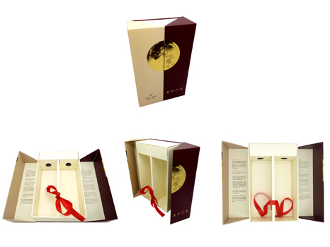 Paper Wine gift box for 2 bottles