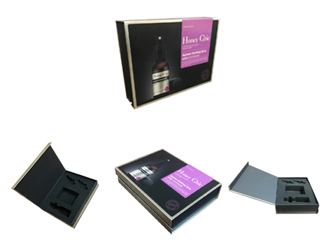 Spray product packaging box