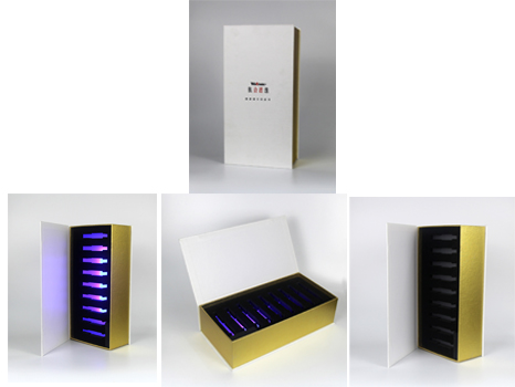 Ampoule Packaging box with LED light